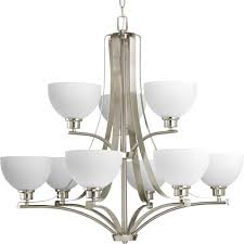 Home Depot Ceiling Chandeliers by Progress Lighting Legend Collection 9 Light Brushed Nickel