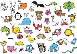 Innovative Pictures Of Animals For Kids Drawings Stock Vector Art More Images 2015