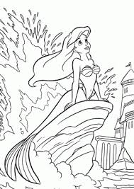 Princesse Ariel In The Sea Coloring Pages For Girls Printable Free