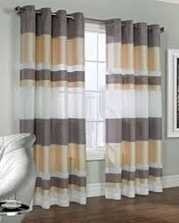 Searsca Sheer Curtains by Anna Maria Macrame Embroidered Panel And Valance Anna Sheer