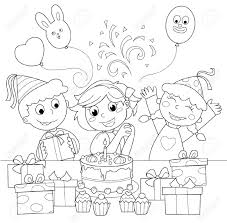 Party Black And White Clipart