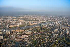 100 Lambeth Hospital Aerial View Aerial View Of London River Thames Palace And