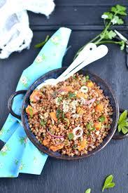 cuisiner les graines de sarrasin salade de sarrasin grillé et patate douce rôtie sans gluten