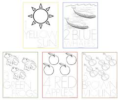 Use These Number Coloring Sheets