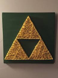 Zelda Triforce Lamp Amazon by Zelda Triforce Nail And String Art Https Www Etsy Com Listing