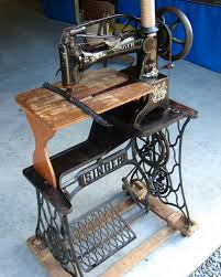 leather sewing machine singer 29 4 with wood extension table