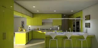 Elegant Green Kitchen Decor Ideas Combine White Marble Countertop And Island Bar Table Plus Minimalist Stools