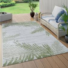 outdoor teppich palmen design