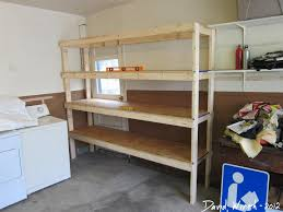 easy and fast diy garage image gallery how to make garage shelves