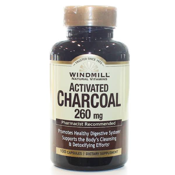 Windmill Natural Vitamins Activated Charcoal 260mg 100 Capsules