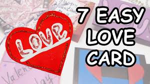 7 DIY LOVE Greeting Card Making Paper Craft Ideas For Valentines Day Julia