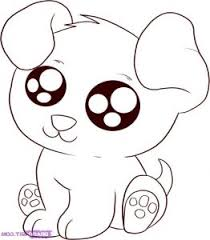Funny Baby Dog Coloring Pages Download