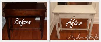 How To Build Wooden End Table by Diy Shabby Chic Table Distressing Tutorial My Love Of Style