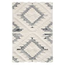 hochwertiger shaggy teppich boho bahama 8831 creme