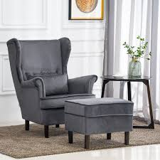 Grey Velvet Button Wing High Back Armchair Sofa Fireside Chair ... Buzzme Armchair Acoustic Highback Armchairs Apres Fniture Melchiorre Bega Set Of Two High Back 1940s Italy For Recliner Chairs Ikea Canada Straight Clean Lines And Comfortable Modern Style R1225 Black Tufted Accent Leather Borge Mogsen Vintage Arm Chair Denmark 1947 At With Arms Occasional Ftstool Gio Ponti Pair Newly Upholstered In Teal Amazoncom Blue Height And Wooden Bmoral Duck Egg Check Wing Caristo By Tim Rundle Sp01 Design