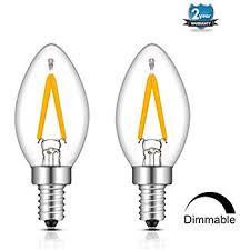 1w dimmable led filament c7 light bulb 2700k warm white