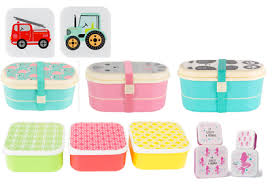 Lunch Boxes Kids Bento Box Plastic Snack Picnic Food School