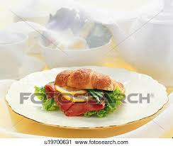 Stock Photography Of Croissant Sandwich U19700631