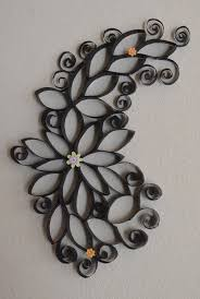 Wall Decoration Ideas With Paper Black Beautiful Floral Pattern Handmade Diy Decor Rolls