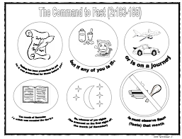Command To Fast Ramadan Coloring Page