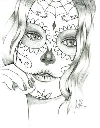 Sugar Skull Coloring Book Walmart Pages Free Download Pdf Full Size