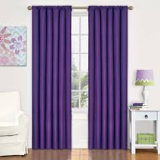 Kohls Sheer Curtain Panels by Amazon Com Eclipse 10707042x084pur Kendall 42 Inch By 84 Inch