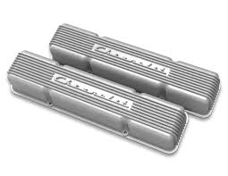 Holley Vintage Series Chevrolet Script Valve Cover- Natural-Classic ...