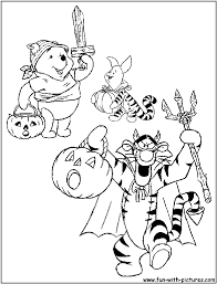 Winnie The Pooh Pumpkin by Disney Halloween Coloring Pages Free Printable Colouring Pages