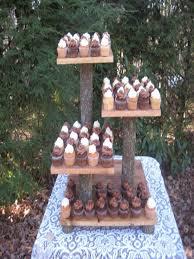 Rustic Wood Cupcake Stand 4 Tier Slice