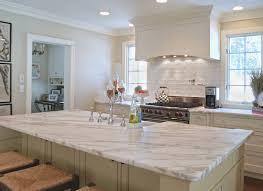 kitchen backsplashes antique white shaker cabinets