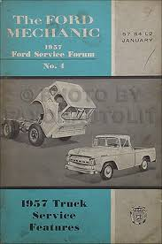 100 1957 Ford Truck Service Features Training Manual Original