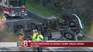 Victim Identified In Milford Fatal Dump Truck Crash Manchester Police Reported Two Dump Truck Crashes On The Same Road Crews Rescue Victim Trapped In After Henrico Crash Wtvrcom Dump Injures 1 Closes Danbury Fox 61 One Airlifted Charged With News Watch This Truck Flip After Smashing Highway Sign With Raised State Dot Reopens Route 233 Following Updated Driver Dead Swamp Road Crash Dead Whitby 680 News Causing Traffic Backup On 55 In Harrison Killed Tips Into Ditch San Juan County Clean Oil Spill Trucks Marysville