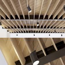 100 Wooden Ceiling Ceiling On Metal Beams 24 3D Model