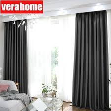 Schlafzimmer Vorhã Nge Blackout Grau Vorhänge Für Wohnzimmer Schlafzimmer Thermische Isolierte Vorhang Windows Behandlung Wohnkultur