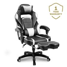 Merax Racing Gaming Chair With Footrest | Ergonomic Office Reclining Chair  For Computer Gamers PC Racer, High Back Large Home Desk Chairs Executive ...
