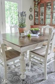 anderson grant Antique Dining Table Updated with Chalk Paint
