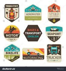 100 Truck Emblems Badges Transport Train Delivery Stock Vector Royalty