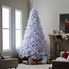 Artificial Christmas Tree This Fake 10 Foot Xmas Classic Style White Pine Flame