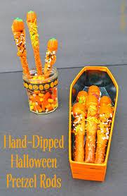 Halloween Pretzel Rod Treats by Halloween Pretzel Rods Diana Rambles