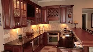 KitchenCorner Basement Mini Kitchen Design Ideas With Small L Shape Brown Cabinet And