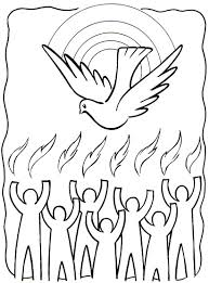 Tongues Of Fire Coloring Pages In Holy Spirit