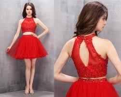 2 piece homecoming dresses short homecoming dresses red homecoming