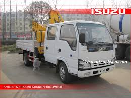 100 Service Truck With Crane For Sale Hot Selling ISUZU Lorry Mounted Hydraulic In