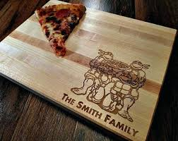 Personalized Kitchen Gifts Cutting Board Family Name Ninja Turtles Butcher Block Pizza