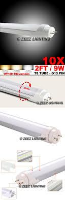 light bulbs 20706 10x t8 2ft 9w cool white led light bulb 2