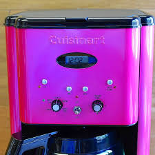 Cuisinart Coffee Maker 12 Cup Timer With Pink DCC 1200MP Brew Central Coffeemaker Metallic