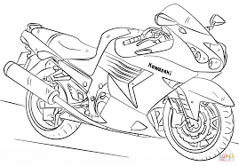 Motorcycle Coloring Pages Kawasaki Page Free Printable Online