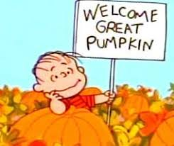 Linus Great Pumpkin Image by Newsletter Samhain 2014 Fareshares Food Coop Crampton Street London
