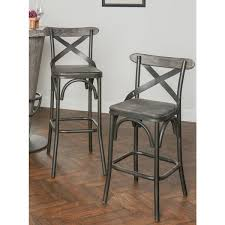 Dixon Rustic Stony Grey Counter Stool View Full Size