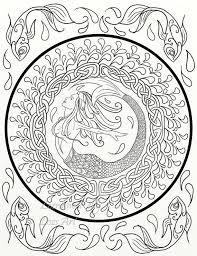 Mermaid Celtic Knots Adult Coloring Medieval Horse Swirls Peacock By Lorraine Kelly